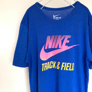 NIKE - ナイキ Mサイズ グラデーションロゴ ブルー Tシャツ