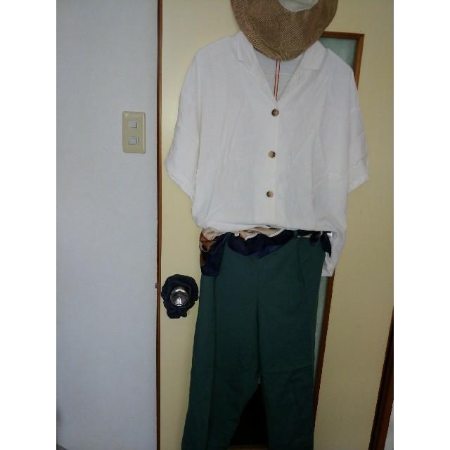 GU(ジーユー)の【GU】リネンブレンドオープンカラーシャツ  ¥1,300 レディースのトップス(シャツ/ブラウス(半袖/袖なし))の商品写真