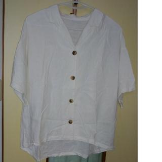 ジーユー(GU)の【GU】リネンブレンドオープンカラーシャツ  ¥1,300(シャツ/ブラウス(半袖/袖なし))