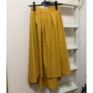 ティティベイト(titivate)のRe:EDIT/フィッシュテールスカート/イエロー/M(ひざ丈スカート)