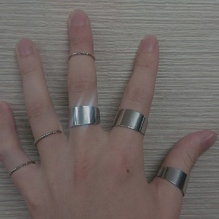 6連 リング 指輪 フリーサイズ(リング(指輪))
