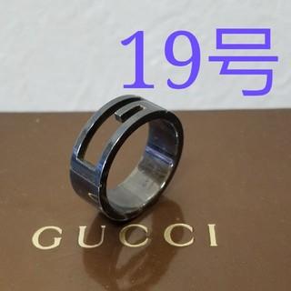 グッチ(Gucci)の[正規品] GUCCI グッチ ブラック リング 19号 指輪 鏡面研磨済 (リング(指輪))
