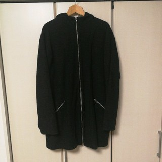 ヨウジヤマモト(Yohji Yamamoto)のヨウジヤマモトプールオム ロングコート フード ジップアップ メンズ グレー(ブルゾン)
