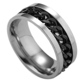 00106【レディース指輪】シルバーブラック(リング(指輪))