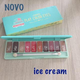 NOVO アイシャドウパレット 10色 ice cream