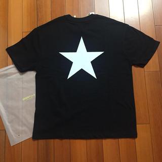 FEAR OF GOD - FEAROFGOD ESSENTIALS スターサイズM黒Tシャツ