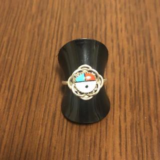 インディアン(Indian)のリング 指輪 サンフェイス ズニ族 シルバー インディアンジュエリー 7号(リング(指輪))