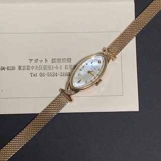アガット(agete)の美品♡アガット♡オーバルフェイスジュエリーウォッチ(腕時計)