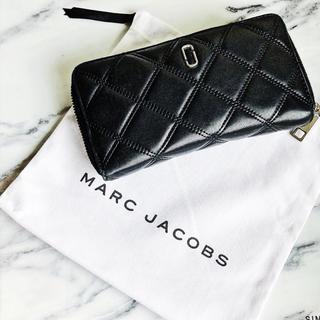 マークジェイコブス(MARC JACOBS)のMARC JACOBS 長財布 レザー ブラック 黒 J ロゴ (財布)