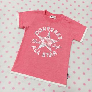 コンバース(CONVERSE)のconverse♡お洒落着回し◎ロゴプリント♡PINK♡Tシャツ♡95♡(Tシャツ/カットソー)