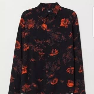 H&M - Rose Pattern slim fit Shirt