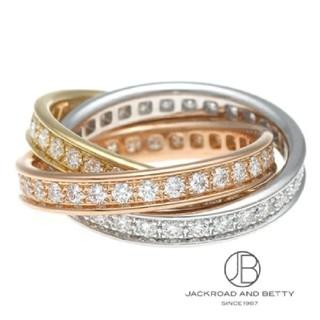 カルティエ(Cartier)のカルティエ トリニティフルダイヤリング 金 ゴールド 指輪 Cartier(リング(指輪))