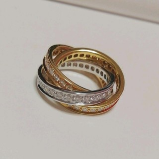 カルティエ(Cartier)のトリニティフルダイヤリング カルティエ フルダイヤ Cartier(リング(指輪))