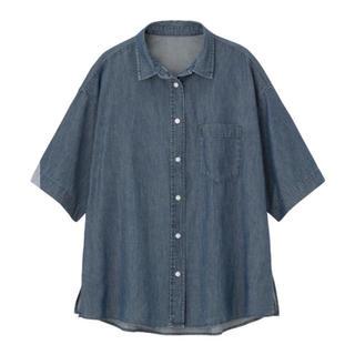 ジーユー(GU)のGU オーバーサイズデニムシャツ(シャツ/ブラウス(半袖/袖なし))