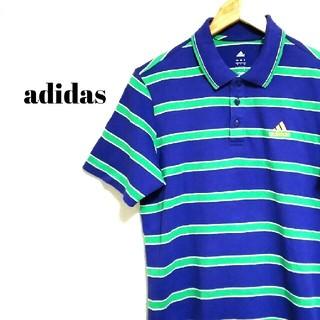 adidas - トレンド☆ ビッグサイズ アディダス ポロシャツ ボーダー メンズ
