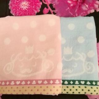 今治タオル - 新品未使用 今治フェイスタオル 水色 ピンク 2枚 パステル、トランプ柄 セット