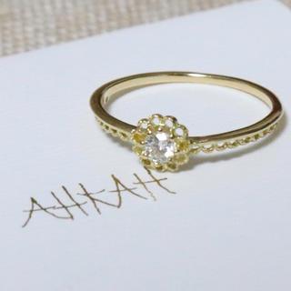 アーカー(AHKAH)のアーカー レーシアソル リング k18 ダイヤ(リング(指輪))