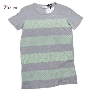 レッドヴァレンティノ(RED VALENTINO)の新品レッドヴァレンティノRED VALENTINOレースTシャツXSグリーン(Tシャツ(半袖/袖なし))