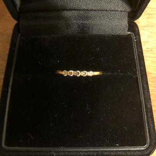アーカー(AHKAH)のアーカー  K18 YG ダイヤモンド 0.10カラット ピンキーリング 1号(リング(指輪))