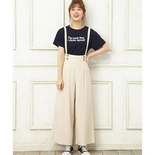 イング(INGNI)のタイムセール0時まで☆イング 今季 サス付き ワイドパンツ (Tシャツ(半袖/袖なし))