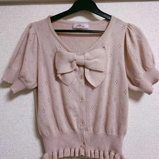 アンクルージュ(Ank Rouge)の胸元リボンニット(カットソー(半袖/袖なし))