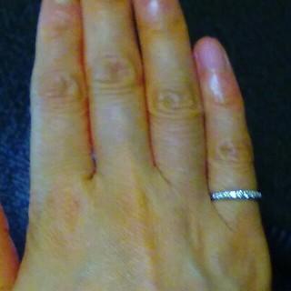 pt 950  ダイヤモンド0.15ピンキーリング(リング(指輪))