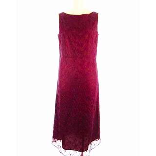オンワード ♡ワインレッドのドレス(ロングドレス)