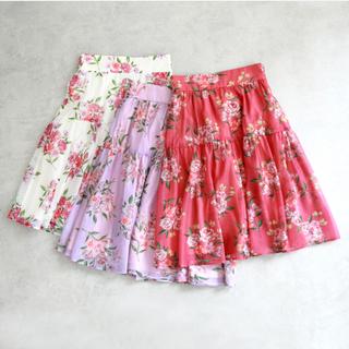 ジルバイジルスチュアート(JILL by JILLSTUART)のジルバイ 花柄スカート(ひざ丈スカート)