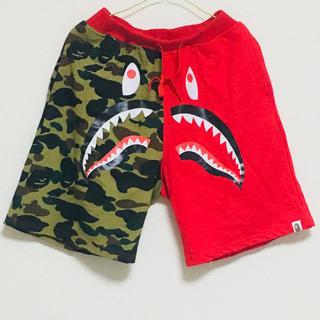 アベイシングエイプ(A BATHING APE)のbape SHARK SWEAT SHORTS パンツ(ショートパンツ)