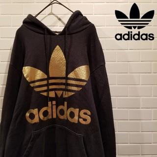 adidas - 【adidas Originals】 アディダス ビッグロゴ フーデットパーカー