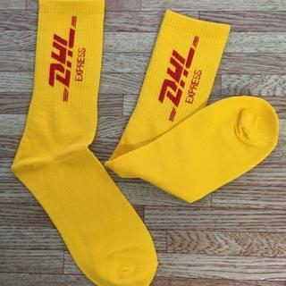 靴下 ソックス DHL イエロー ストリート カニエ ジャスティン 海外 人気(ソックス)