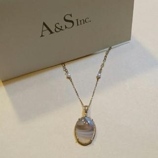 agete - 新品 agete k10 ボスワナアゲート・ダイヤモンド チャーム