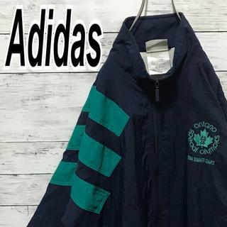 アディダス(adidas)のアディダス 90s ナイロン レアカラー 銀タグ スリーライン ビンテージ (ナイロンジャケット)