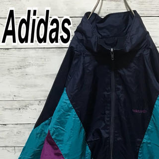 アディダス(adidas)のアディダス 90s ナイロン マルチカラー ビンテージ ビッグシルエット (ナイロンジャケット)