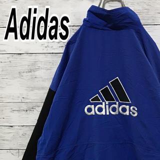 アディダス(adidas)のアディダス 90s ナイロン バックロゴ ビッグサイズ デカロゴ ビンテージ (ナイロンジャケット)