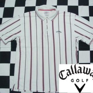 Callaway - 【キャロウェイ】メンズ半袖鹿の子ポロシャツ海外Mサイズ
