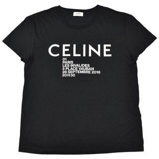 セリーヌ(celine)のCELINE セリーヌ Logo Print クルーネック Tシャツ/ブラック(Tシャツ(半袖/袖なし))
