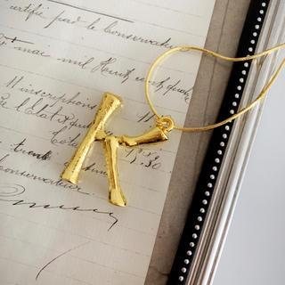 celine - イニシャル  ネックレス ゴールド K アルファベット