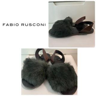 FABIO RUSCONI - ファビオルスコーニ リアルファー サンダル
