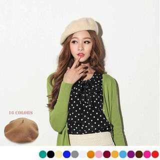 【新品】ベレー帽 ニットレディース帽子 秋冬 帽子レディース ベレー帽全16色(ハンチング/ベレー帽)