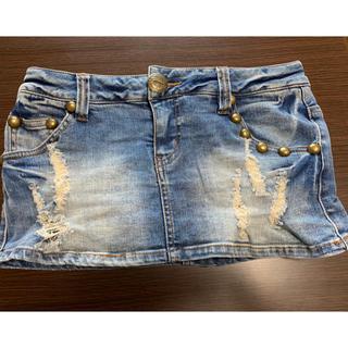 ガルラ(GARULA)のGARULA デニムスカート ミニ ショートパンツ M レデース(ミニスカート)
