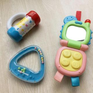 ミキハウス(mikihouse)のミキハウス☆歯固め 携帯 ガラガラ おもちゃ(おもちゃ/雑貨)