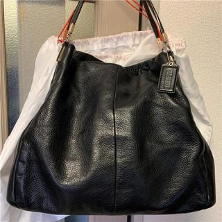 コーチ(COACH)の美品 COACH 約7万円 本革多収納バッグ(ハンドバッグ)