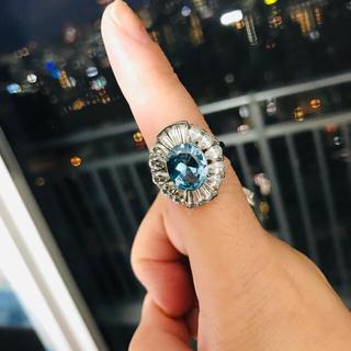 大粒☆ゴージャスなブルートパーズの指輪  15号(リング(指輪))