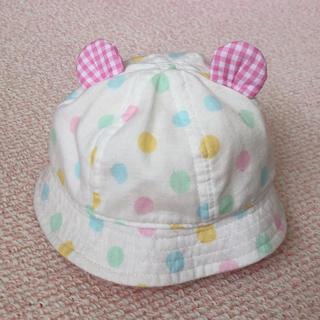 お耳付き帽子  綿100%  42センチ(帽子)