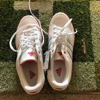 アディダス(adidas)の24.5 アディダススニーカー 蛍光ピンクライン(スニーカー)
