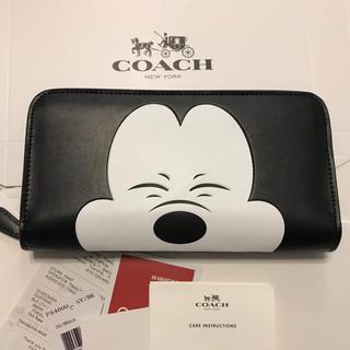 コーチ(COACH)の25日までセール!コーチ 新品 笑顔ミッキー 高級レザー 長財布(財布)