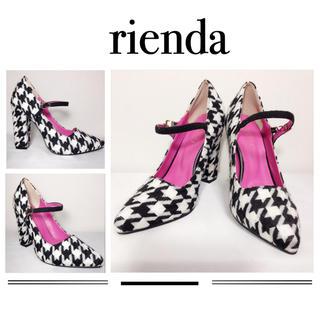 rienda - ♥️rienda♥️千鳥柄 パンプス 靴 ヒール リップサービス RESEXXY