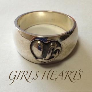 送料無料17号クロムシルバー925ハートスタンプリング指輪値下クロムハーツ好きに