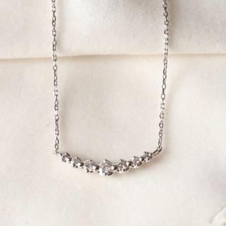 4℃ - 4℃ ライン ダイヤ ネックレス k18